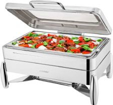 Verona Super Luxury Full Size Chafer,8.5 Ltrs Highly Polished Chafing Set for Buffets, Breakfast Bars